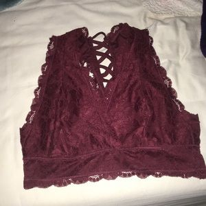 Maroon lace bralette from alter'd state